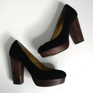 Seychelles suede block heels Size 6